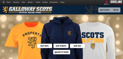 Galloway Athletics Announces Sideline Store