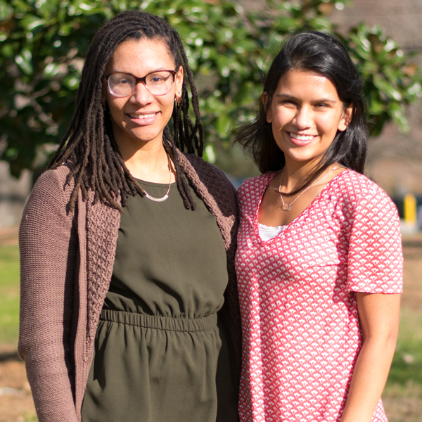 LaRita Williams and Saachi Datta '17